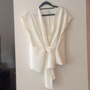 Fashionable bar III white blouse
